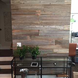 Reclaimed Wood Accent Wall   Dining Room