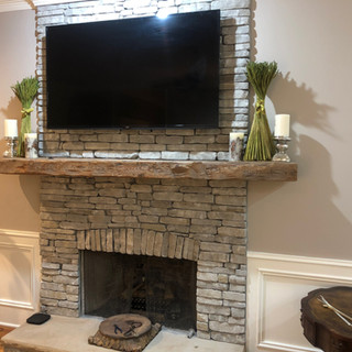 Fireplace Mantel | Reclaimed Heart Pine