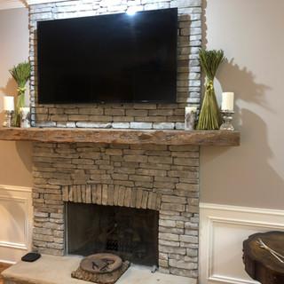 Fireplace Mantel | Reclaimed Heart Pine