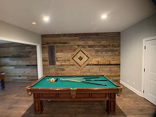 Billiard Room Accent Wall