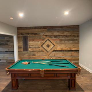 Billiard Room Wall   Hardwood Paneling