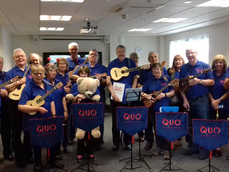 "The Quorn Ukulele Orchestra – aka ""The QUO"""