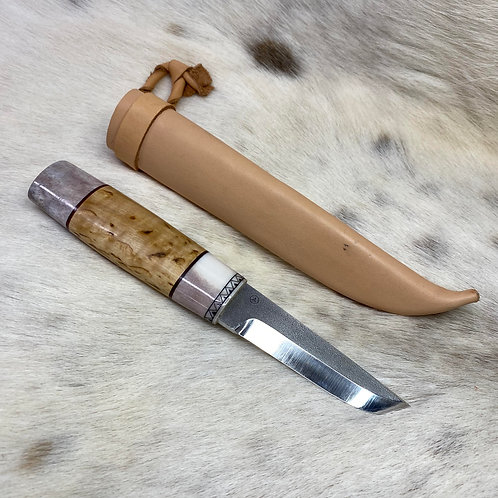 Puukko knife from antler and wood №2