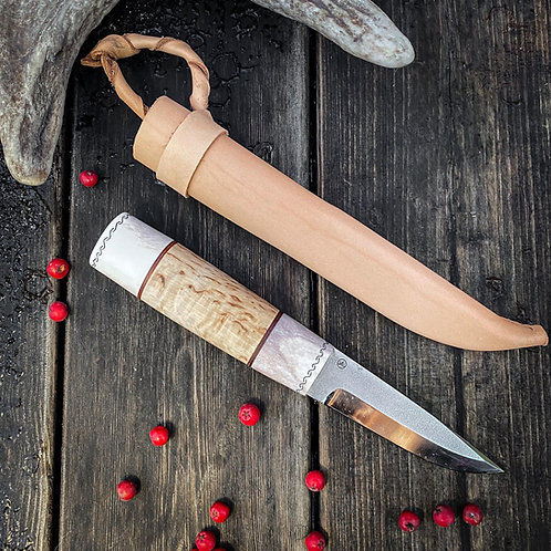 Puukko knife from antler and wood №3