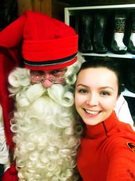 Santa Claus shopping at Lauri