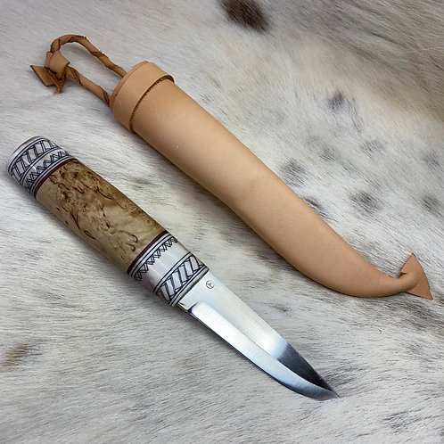 Puukko knife from antler and wood №4