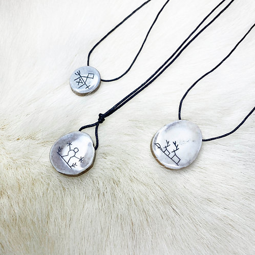 Pendant with Sámi symbol