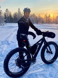Biking in winter wonderland