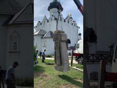 Установка памятника преподобному Сергию Радонежскому