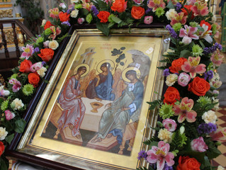27 мая в честь Дня Святой Троицы в нашей обители прошло праздничное богослужение