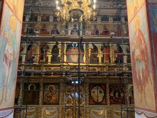 В Успенском соборе завершился монтаж иконостаса