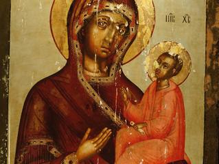 Тихвинская икона Божией Матери из иконостаса Успенского храма. Конец 17 века.