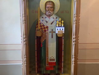 В нашей обители была установлена фигура-икона святителя Николая Мирликийского