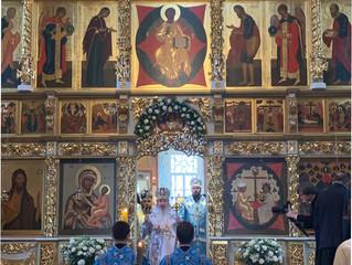 В Свияжском Успенском соборе была совершена Божественная Литургия