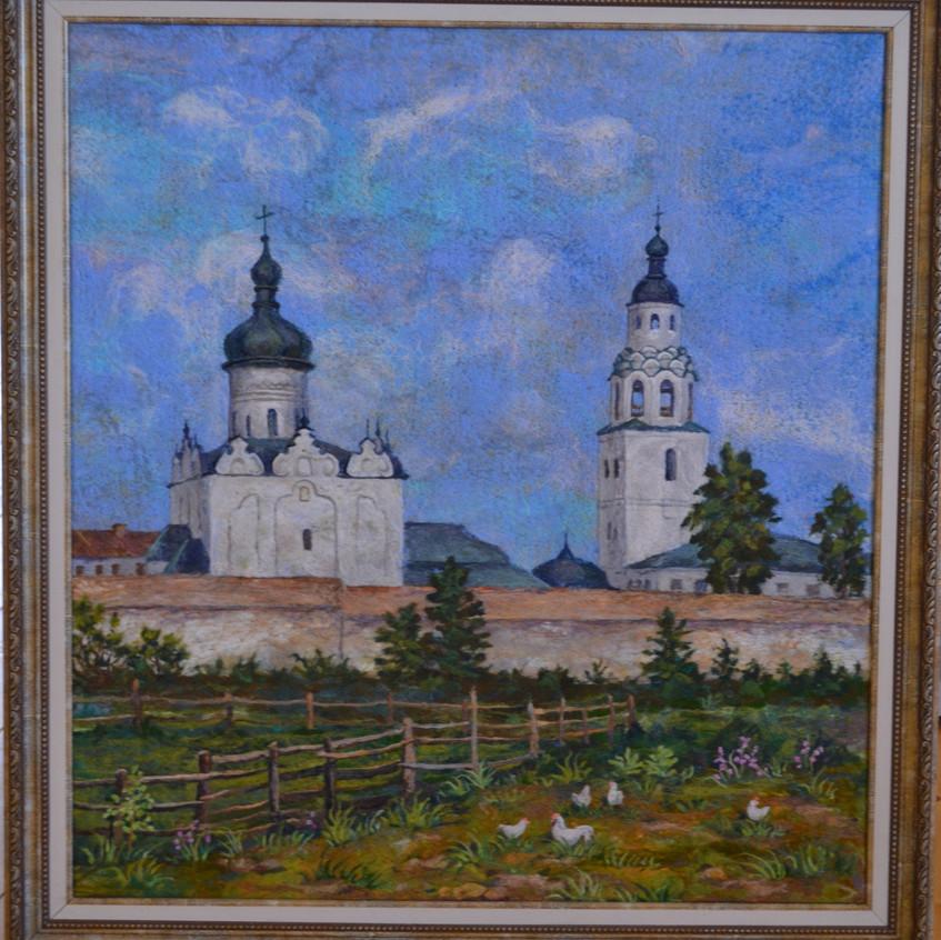 Л. Яковлева. Пейзаж с Успенским собором