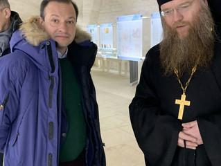 29 января в нашем монастыре прошли съемки репортажа для телеканала Россия