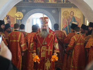 Митрополит Кирилл совершил Литургию на новоучреждённом Свияжском подворье Зилантова монастыря