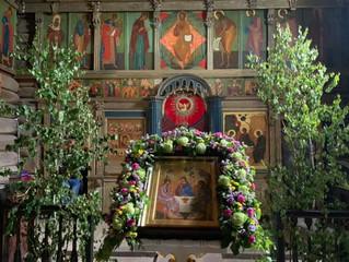 17 июня на Духов день была совершена Божественная литургия в Троицкой церкви