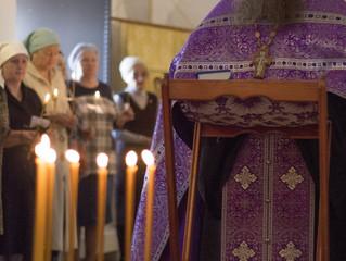 Таинство соборования в Свияжском Успенском монастыре