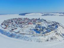 Зимний Свияжск с высоты птичьего полета