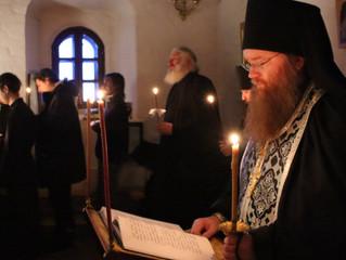 В первые дни Великого поста в Свияжском Успенском монастыре прошло чтение покаянного канона святител