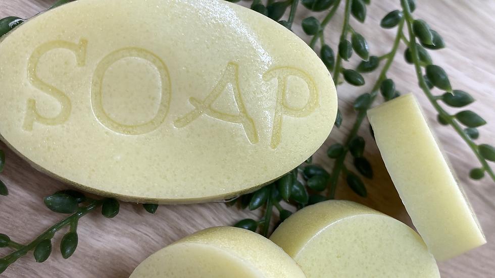 Jabón exfoliante para el rostro