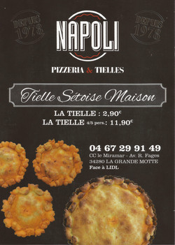 Tielles tarifs Napoli Pizza