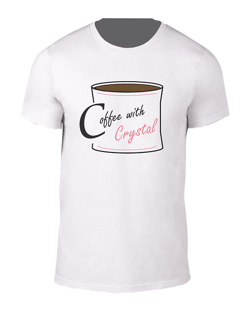 Coffee with Crystal Logo Tee