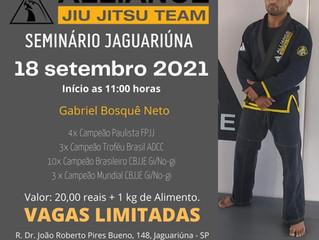 Seminário 18 setembro 2021 com o atleta Gabriel Bosquê Neto