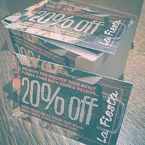 20% off loyalty card restaurant fiesta