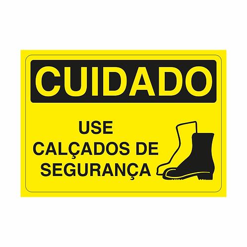 Placas de Sinalização - Use Calçados de Segurança