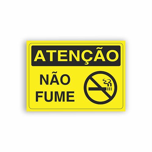 Placa de Sinalização Poliestireno (PS) 2mm - Atenção Não Fume