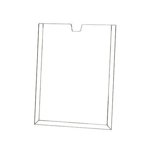 Acrílico Porta Folha de Parede Vertical A5