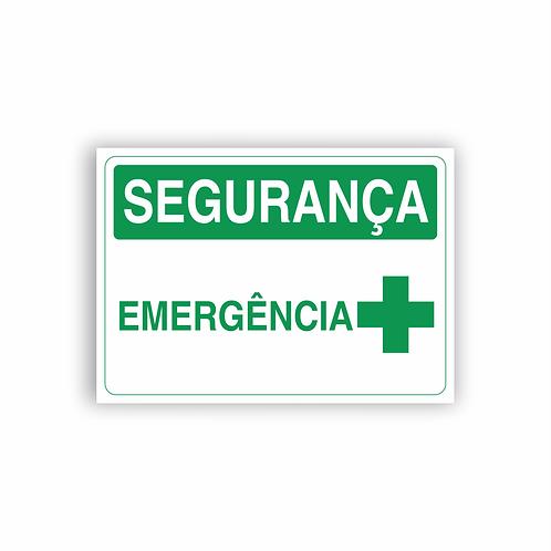 Placa de Sinalização Poliestireno (PS) 2mm - Segurança Emergência