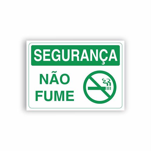 Placa de Sinalização Poliestireno (PS) 2mm - Segurança Não Fume