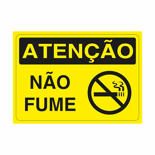 Placas de Sinalização - Não Fume