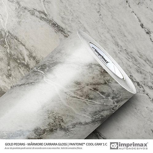 Auto-Adesivo - Gold Pedras - Mármore Carrara Gloss