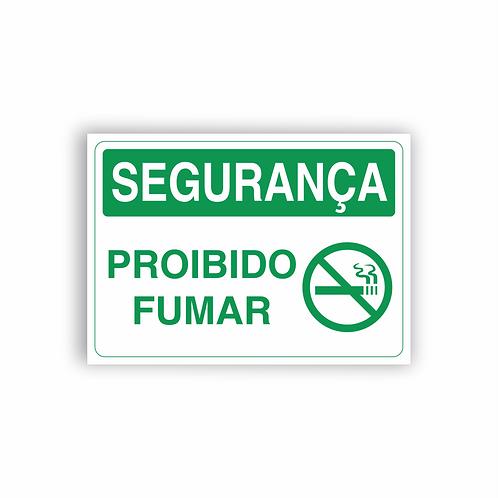 Placa de Sinalização Poliestireno (PS) 2mm - Segurança Proibido Fumar