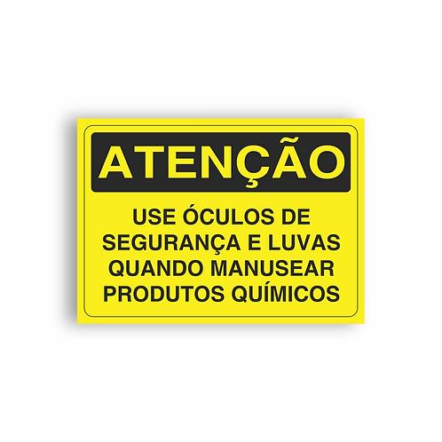 Placa de Sinalização Poliestireno (PS) 2mm - Atenção Homens Trabalhando