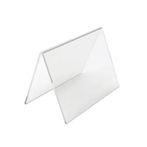 Acrílico de Mesa em V para Adesivo Horizontal A4