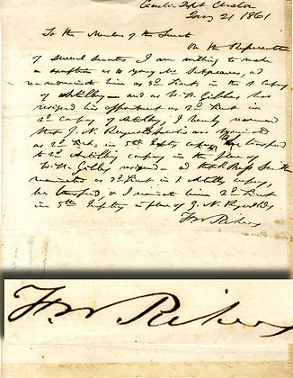 Francis Pickens Letter