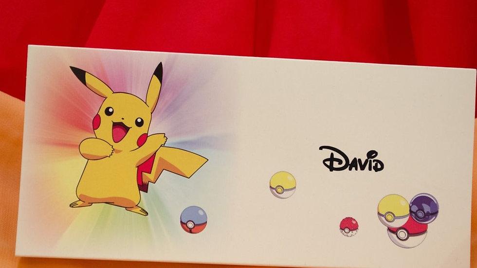 Card de masa si plic de bani Pikachu(3628_money)