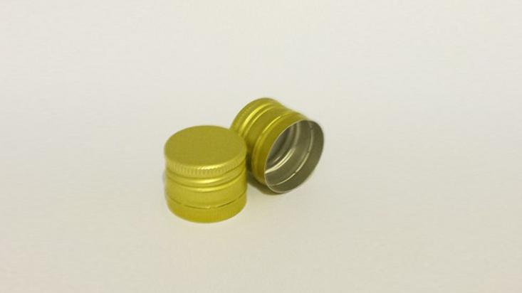Capac aluminiu prefiletat D 30*24 mm Auriu