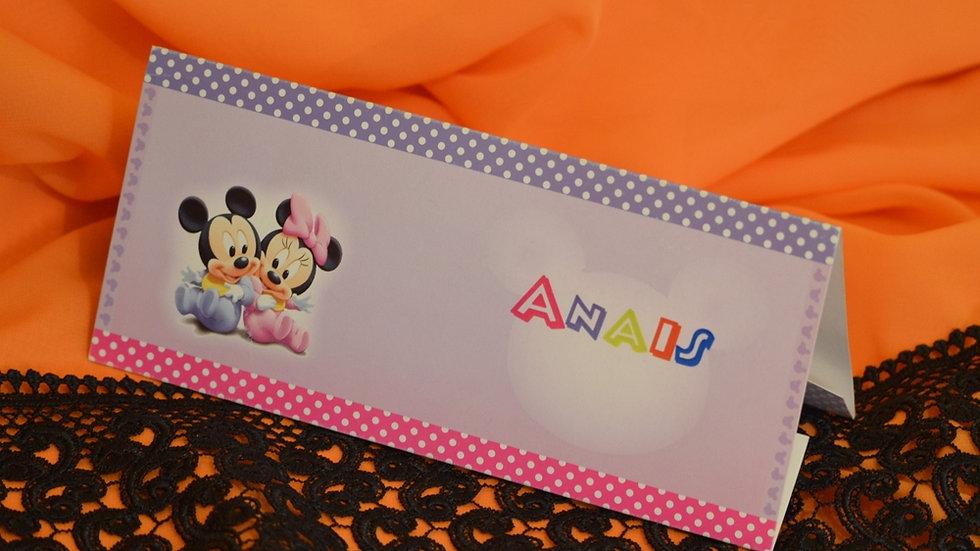 Card de masa si plic de bani cu Mickey si Minnie(3629_money)