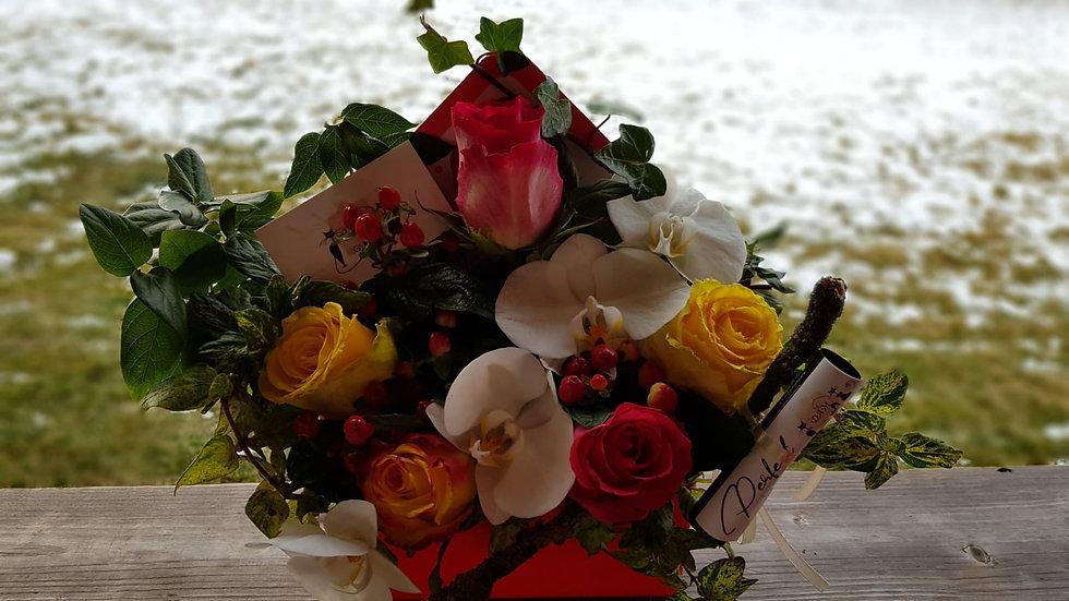 Aranjament floral scrisoare