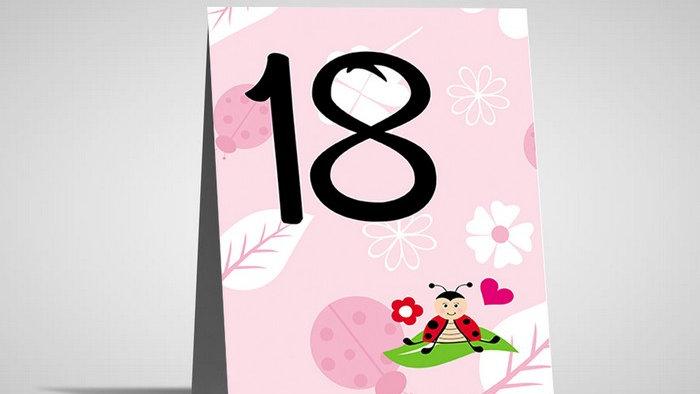 Numar de masa botez si zile aniversare NMB4