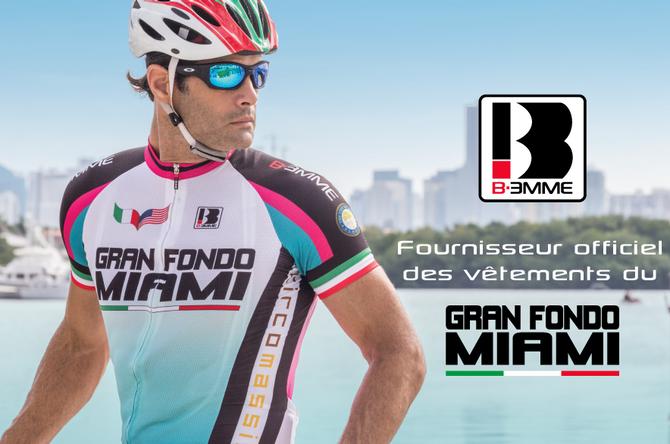 Biemme, Commanditaire principal des vêtements de vélo personnalisés pour le Gran Fondo Miami 2015