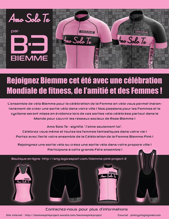 Célébrez la journée d'appréciation de la Femme en vélo avec l'ensemble Biemme Rose !