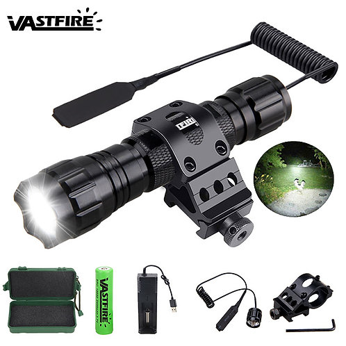 Airsoftfactory - 1 Airsoft Lampen set t+Switch+18650+USB Chargerr+Box