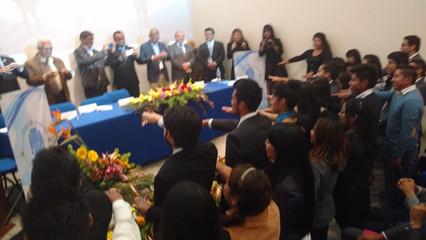 Toma de protesta Capítulos Estudiantiles de Puebla